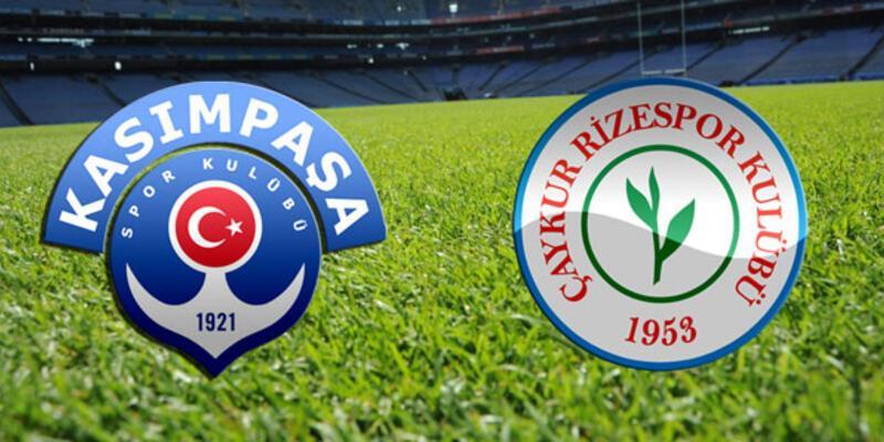 Kasımpaşa - Rizespor maçı muhtemel 11'leri