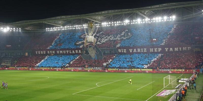 Trabzonspor taraftarından dikkat çeken koreografi