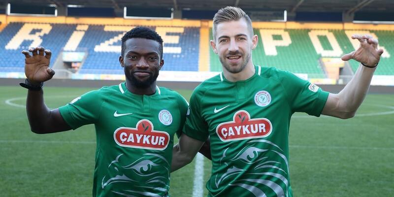 Rizespor yeni transferleri Azubuike ve Melnjak'ı tanıttı