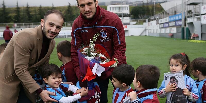 Trabzonspor antrenmanında minik sürpriz