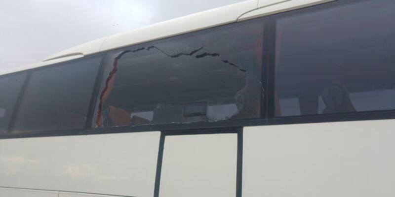 Yeni Malatyaspor otobüsüne taşlı saldırı