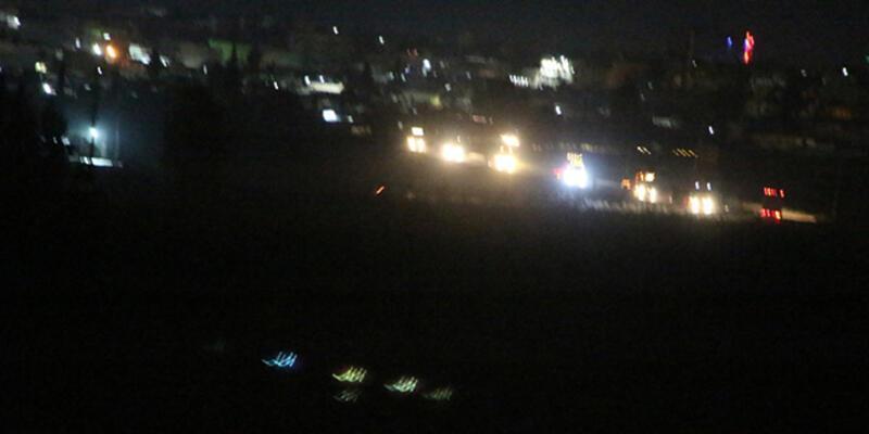 Suriye'deki ABD konvoyu Nusaybin'den görüntülendi