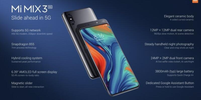 Xiaomi Mi Mix 3 5G tanıtıldı!