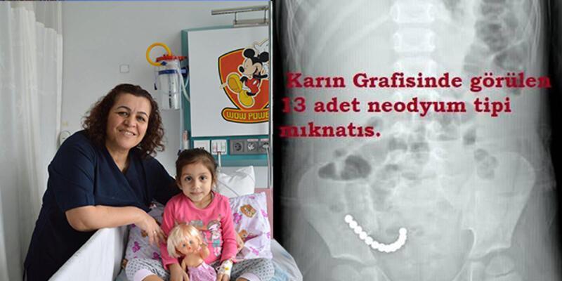 Stres topu mıknatıslarını yutan çocuk ameliyat edildi