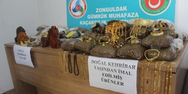 TIR dorsesinde ele geçirildi: 43 ton kehribar taşı