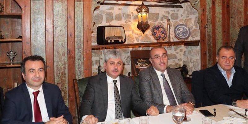 Hatayspor ve Galatasaray yöneticileri dostluk yemeğinde bir araya geldi
