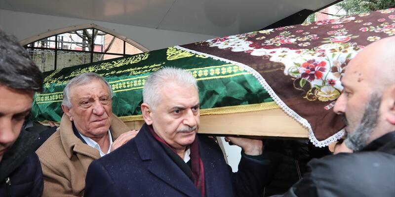 Binali Yıldırım cenaze törenine katıldı