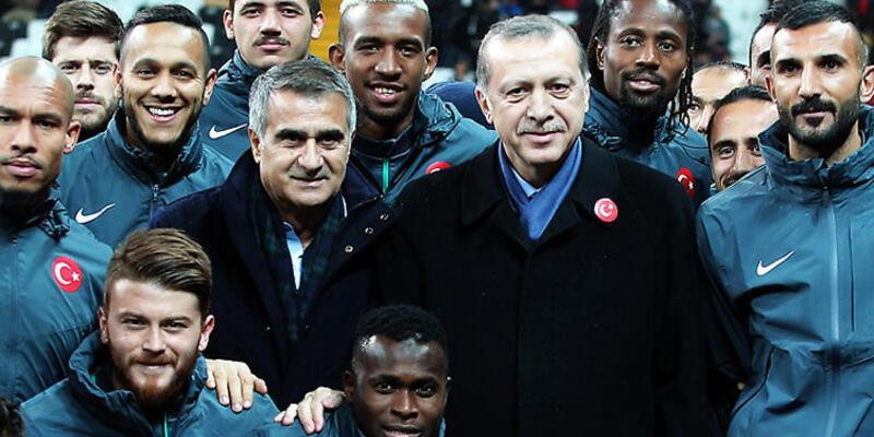 Cumhurbaşkanı Erdoğan'dan Şenol Güneş'e tebrik telefonu