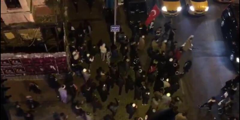Taksim'de yürüyüş yapan gruba polis müdahalesi