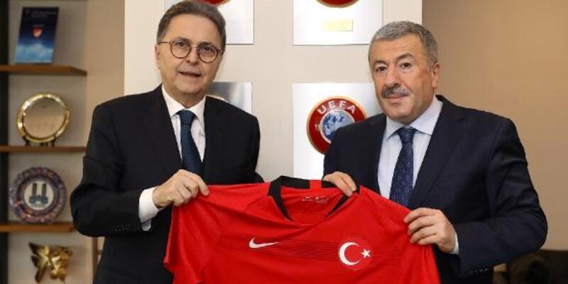 Mustafa Çalışkan'dan TFF Başkanı Güreli'ye nezaket ziyareti