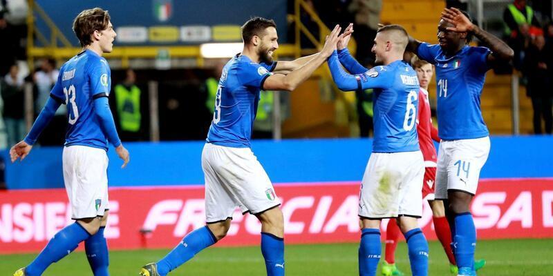 Mancini yönetimindeki İtalya'dan 6 gol