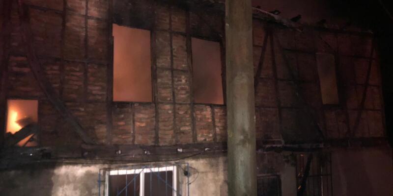 Fatsa'da korkutan ev yangını
