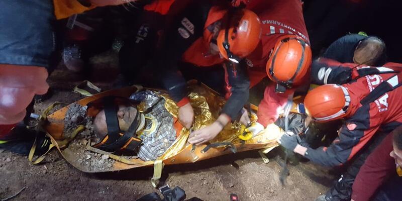Mantar ararken 70 metrelik yamaçtan yuvarlandı