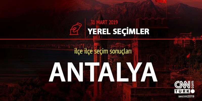 Antalya seçim sonuçları 31 Mart 2019: Yerel seçim Antalya oy oranı