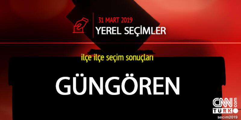 Güngören ilçe seçim sonuçları: İstanbul Güngören yerel seçim oy oranları