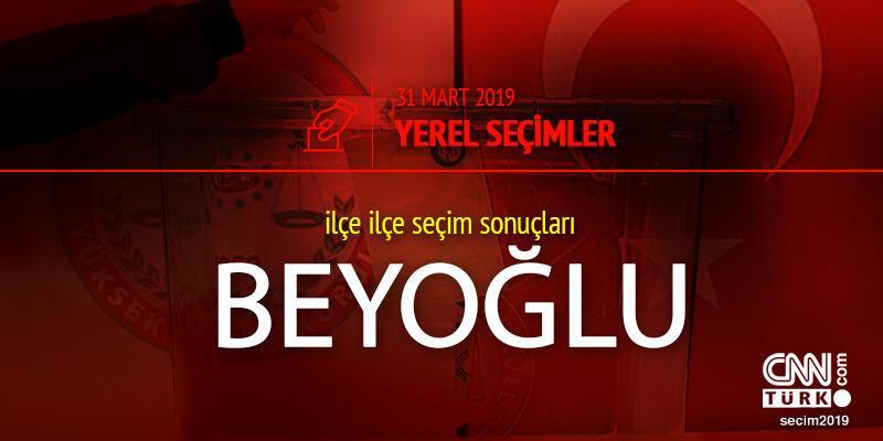 Beyoğlu seçim sonuçları 2019 - 31 Mart Yerel Seçimleri Beyoğlu oy oranları