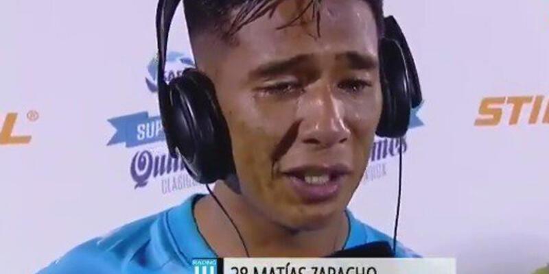Arjantin hıçkıra hıçkıra ağlayan genç futbolcu Zaracho'yu konuşuyor
