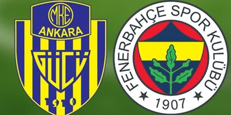 Ankaragücü - Fenerbahçe maçı muhtemel 11'leri