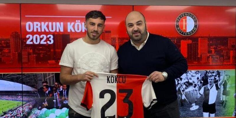 Orkun Kökçü Feyenoord'la imzaladı