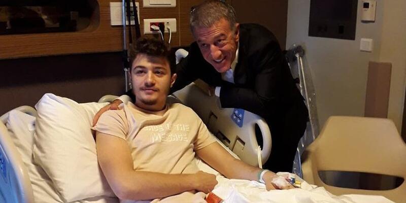 Trabzonsporlu Tayyip Ebrar Cumur ameliyat edildi