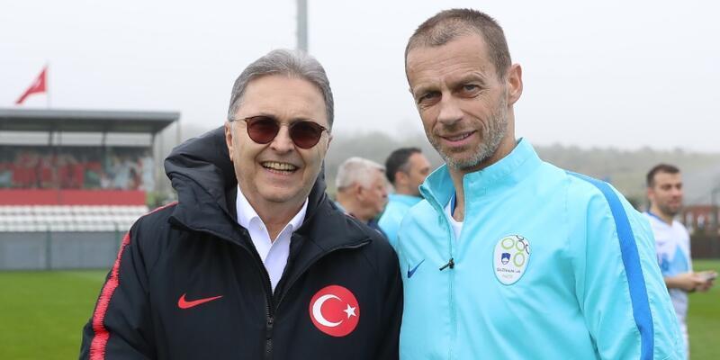 UEFA Başkanı Ceferin'den Hüsnü Güreli'ye ziyaret