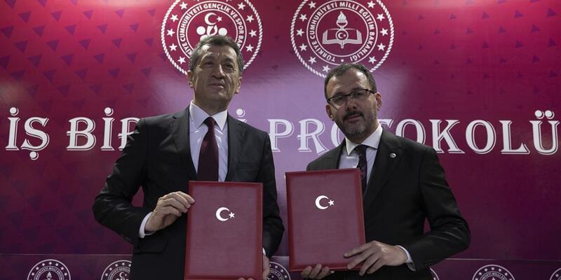 Gençlik ve Spor Bakanlığı ile Milli Eğitim Bakanlığı arasında iş birliği