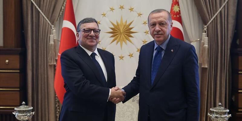 Cumhurbaşkanı Erdoğan eski AB Komisyonu Başkanı Barroso'yu kabul etti