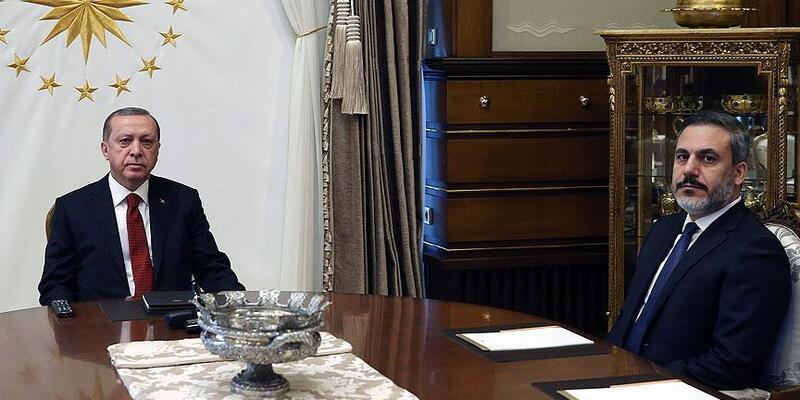 Cumhurbaşkanı Erdoğan'ın MİT Başkanı Hakan Fidan'ı kabul etti