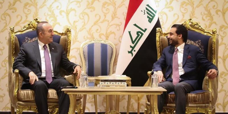 Dışişleri Bakanı Çavuşoğlu Irak'ta Meclis Başkanı Muhammed el-Halbusi ile görüştü