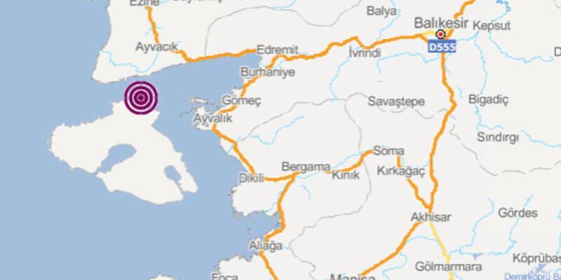 Ayvacık'ta 4.1 büyüklüğünde deprem