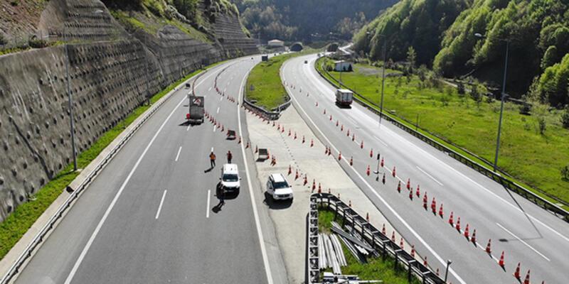 Çalışma başladı, İstanbul yönü ulaşıma kapandı