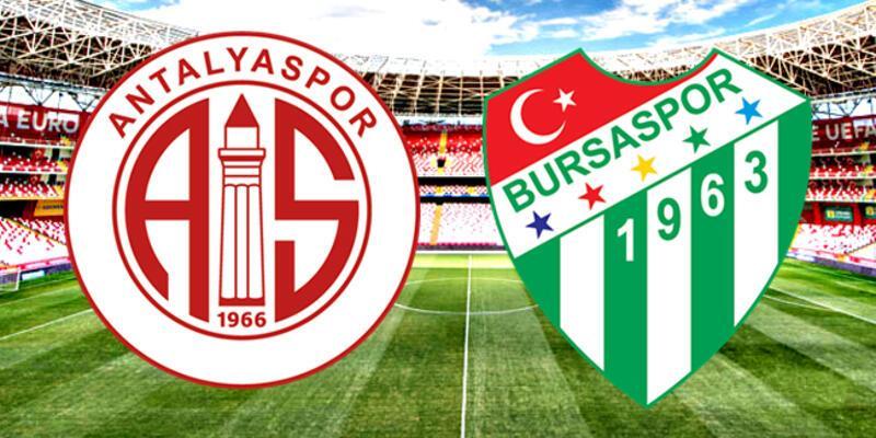 Antalyaspor, Bursaspor maçı saat kaçta mücadele ne zaman başlayacak?