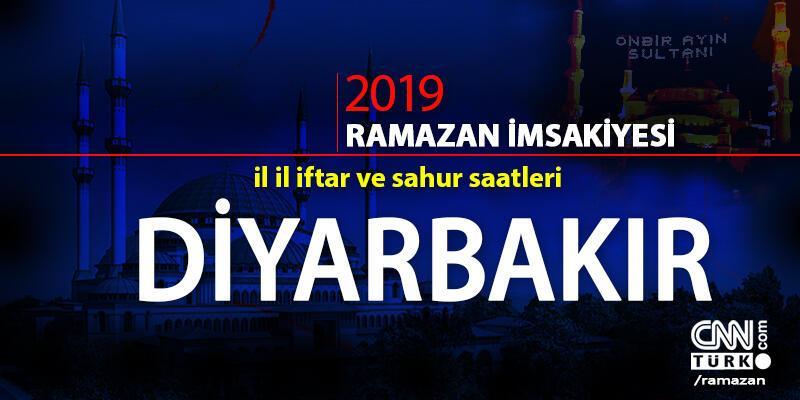 Diyarbakır iftar saati 2019 Ramazan imsakiyesi: Diyarbakır ezan saatleri