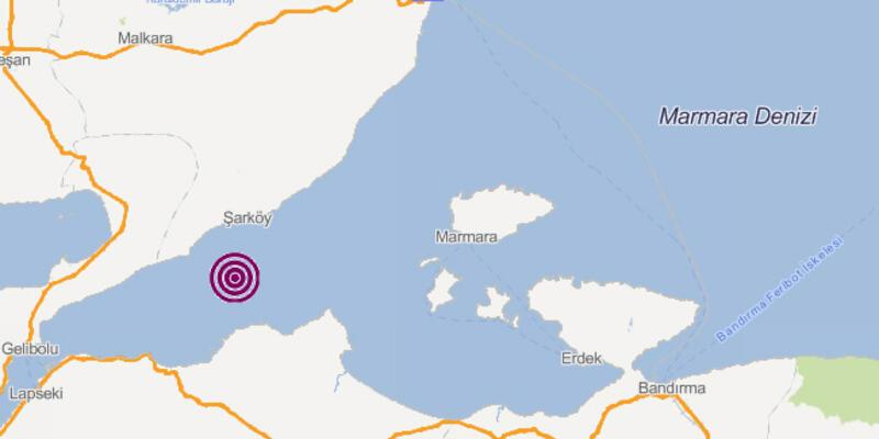 Son dakika deprem haberleri... Marmara Denizi'nde korkutan deprem