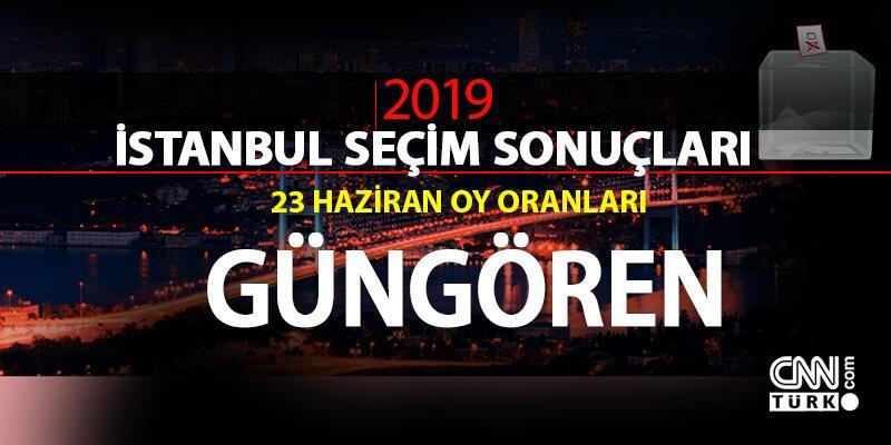 Güngören seçim sonuçları 2019… 23 Haziran İstanbul Güngören oy oranları