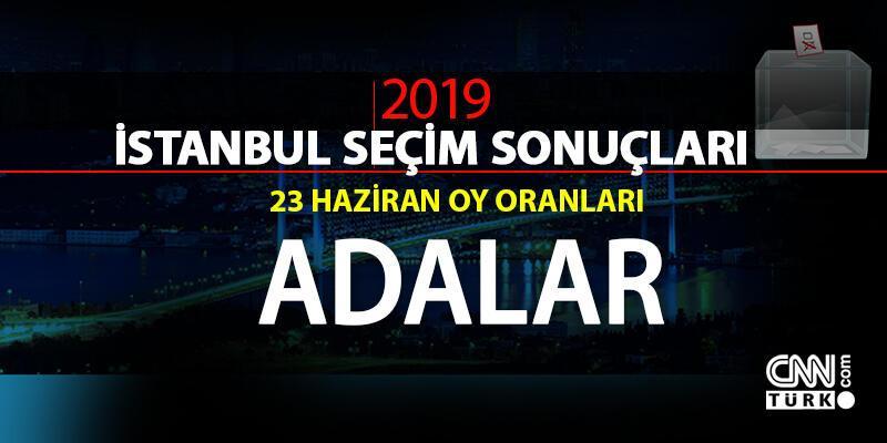 İstanbul seçim sonuçları: Adalar – 23 Haziran İBB Başkanlık seçimi Adalar oy oranları