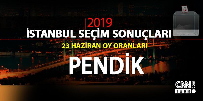 Pendik seçim sonuçları 2019… İstanbul Pendik oy oranları