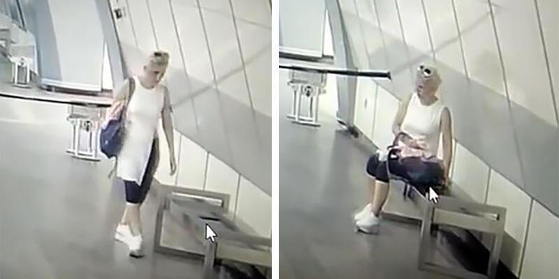 İstanbul'da metro istasyonunda telefon çalan kadın hırsız kamerada