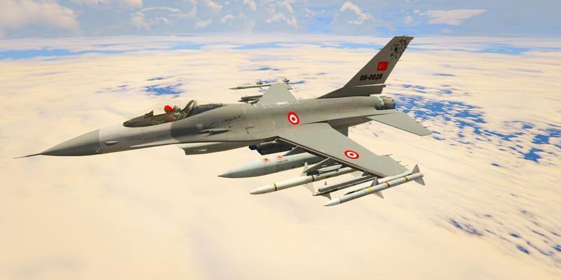 F-16 muharebe eğitim podları millileştirildi