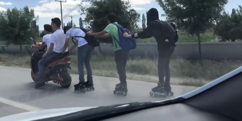 Patenli gençlerin tehlikeli yolculuğu hayrete düşürdü