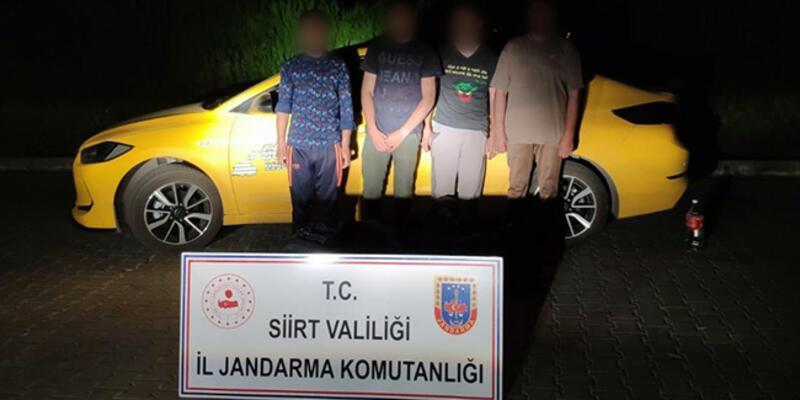 Siirt'te yakalanan 4 kaçak göçmene 14 bin lira ceza