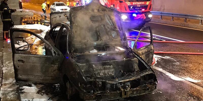 Ordu'da tünelde araç yangını: 4 kişi hastaneye kaldırıldı