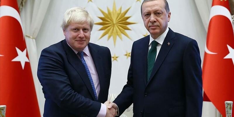 Cumhurbaşkanı Erdoğan, Boris Johnson ile telefonda görüştü