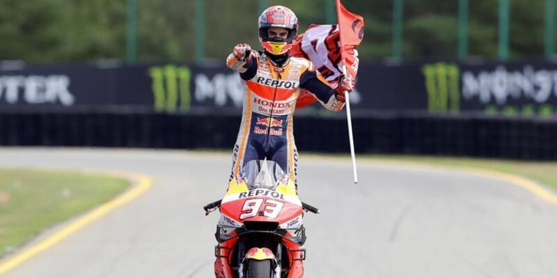 Çekya'da kazanan Marc Marquez