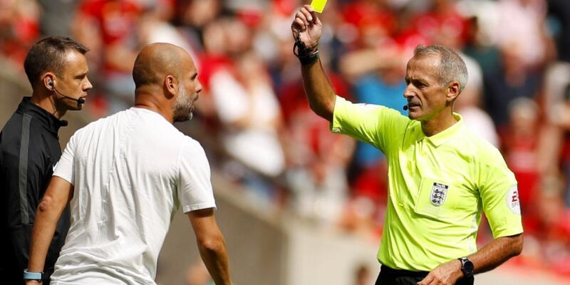 Guardiola gördüğü sarı kartla tarihe geçti