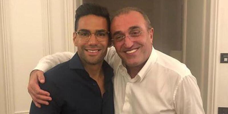 Ve beklenen fotoğraf! Abdurrahim Albayrak ve Falcao...