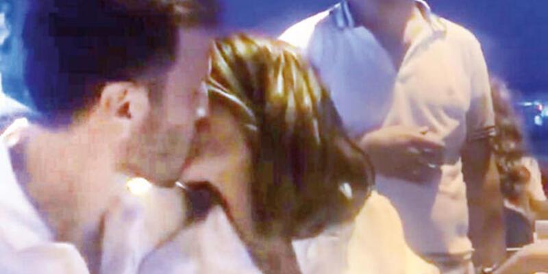 Sevgiliden doğum günü öpücüğü