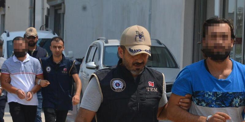 Adana'da yakalanan DEAŞ'lılar adliyeye sevk edildi