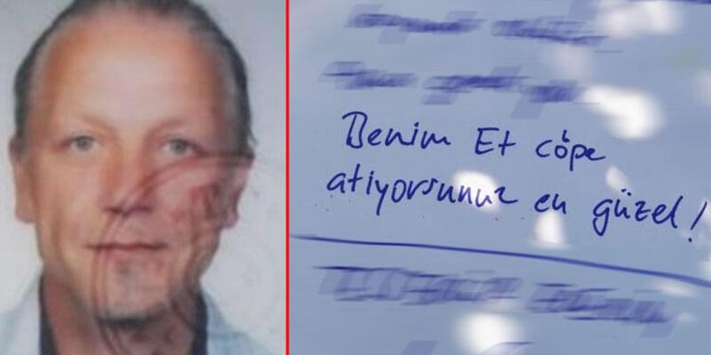 Alman turist 'Beni çöpe atın' yazılı notla ölü bulundu