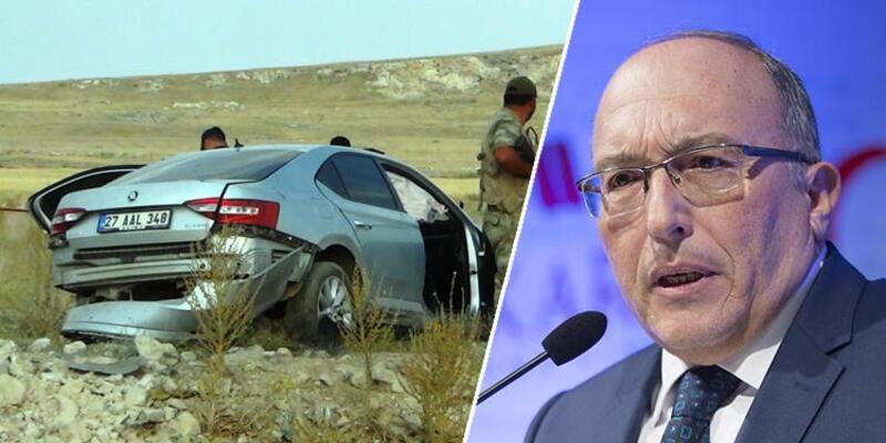 Bakan Yardımcısı Dursun'un şoförü direksiyon hakimiyetini kaybetmiş